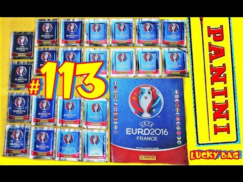 110 new PANINI Sticker UEFA FRANCE EURO 2016 PANINI Frankreich OFFICIAL video LuckyBag ALBUM EM #113