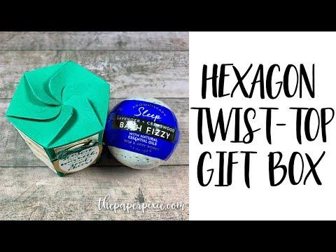 Hexagon Twist-Top Gift Box