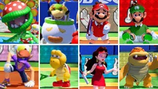 Mario Tennis Aces - All Character Body Shot Animations (DLC Included)