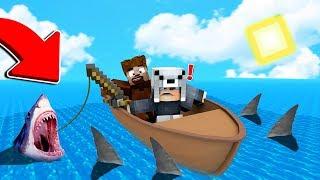 24 SAAT DENİZİN ORTASINDA KALDIK! 😱 Minecraft