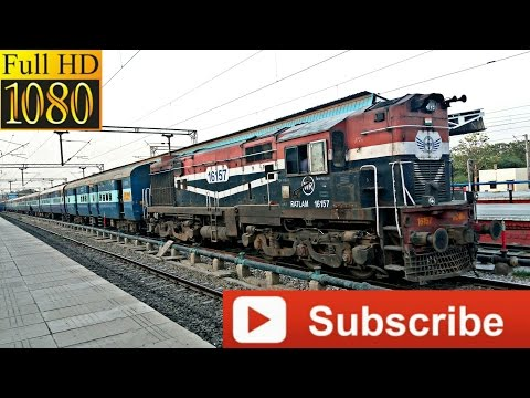 Ratlam WDM 3A !! with 19308/Chandigarh-Indore Weekly Express