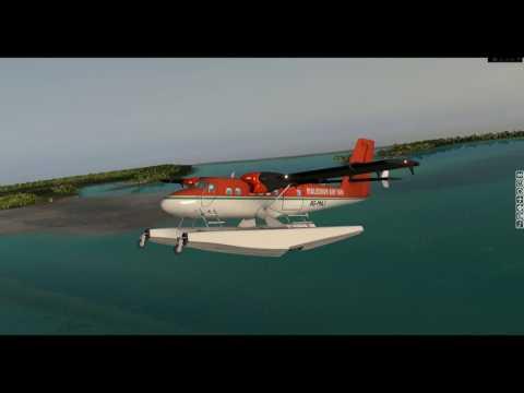 [X-Plane 10] | Landing on a tropical Island | NCMN | Twin Otter DHC-6