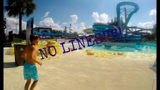 INSANE NO LINE WATER PARK( we got kicked out! )