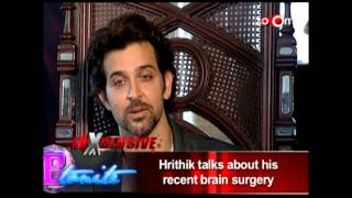 Krrish 3 Official | Hrithik Roshan talks about his Brain Surgery