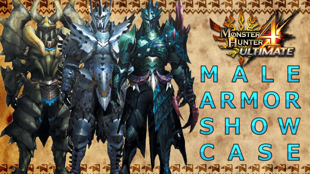 Monster Hunter 4 Ultimate All Male Armor Sets Low Rank High Rank G Rank Youtube