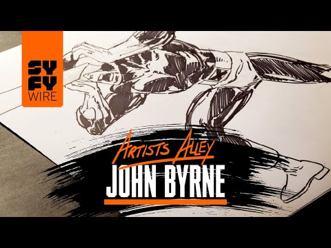 John Byrne Draws Cyclops (Artists Alley) | SYFY WIRE
