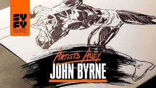 John Byrne Draws Cyclops (Artists Alley)   SYFY WIRE