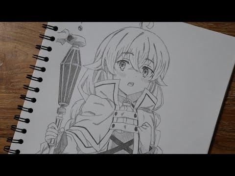 วาดรูปอนิเมะผู้หญิง ร็อกซี่ จากเรื่อง เกิดชาตินี้พี่ต้องเทพ Mushoku Tensei