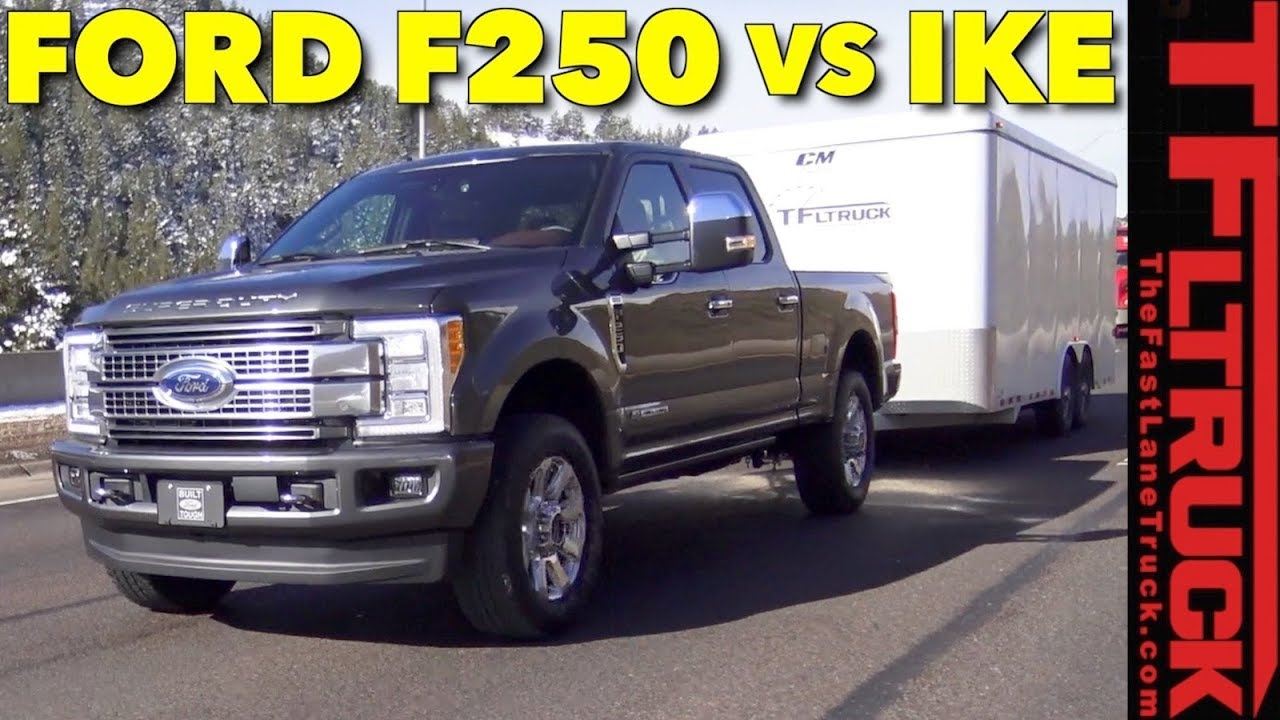 2018 ford f 250 diesel takes on the world s toughest towing test  [ 1280 x 720 Pixel ]