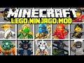 Minecraft LEGO NINJAGO MOD!   SENSEI WU, KAI, LLOYD, JAY & MORE!   Modded Mini-Game