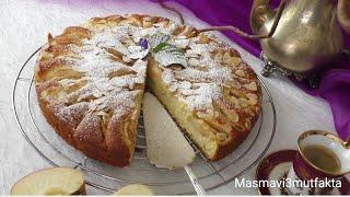Elmalı Pasta Tarifi -az malzemeli nefis bir Tat▪Masmavi3mutfakta▪