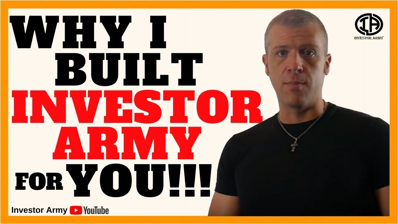 Why I Built Investor Army For You!!!!