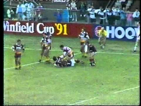Eastern Suburbs / Sydney Roosters Try Segment - 1991 Round 8 vs Brisbane