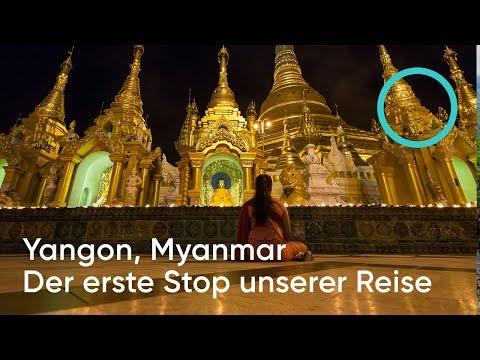 VLOG #12 Yangon Highlights - Der erste Stop unserer Zeit in Myanmar / Follow us around Myanmar