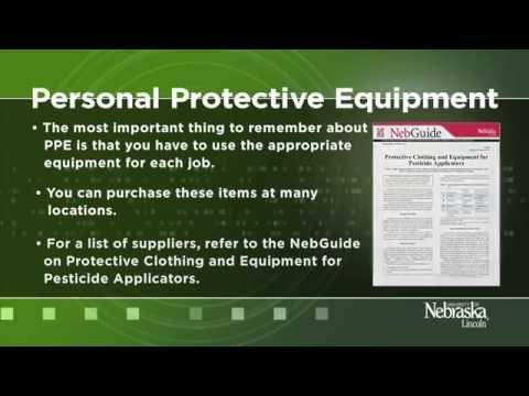 Personal Protective Equipment For Pesticide Applicators