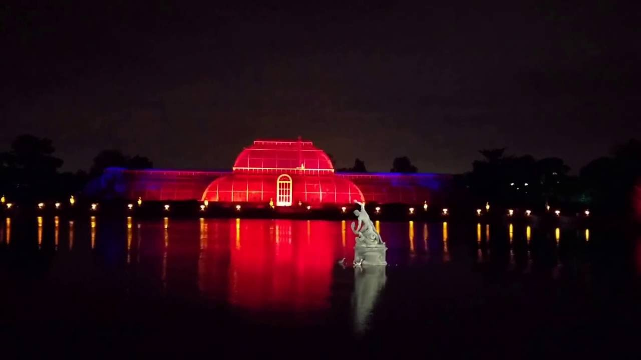 christmas at kew light show 2016 youtube