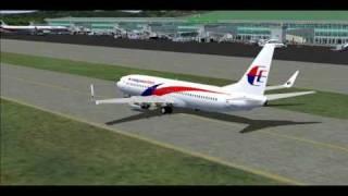 FS2004 Malaysia Airlines B737-800 Miri To Kuching