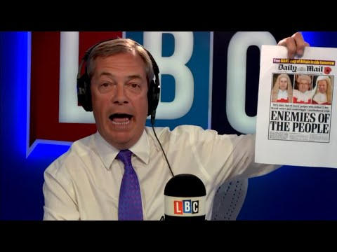 The Nigel Farage Show: Have the House of Lords overstepped the mark? LBC - 10th May 2018