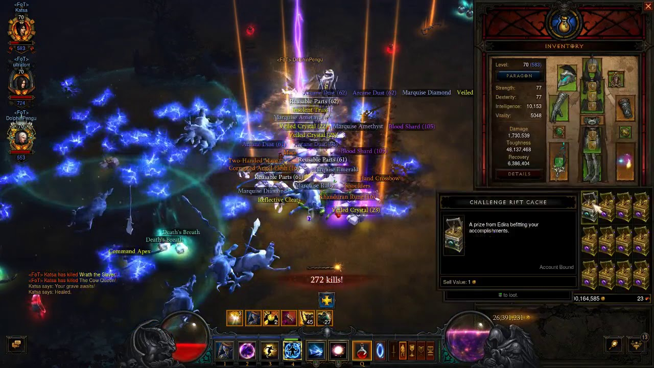Avarice Conquest on Cow Level & Bounty Caches [D3 Season 15]