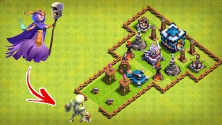 Super Witch vs All Defense - Clash of Clans