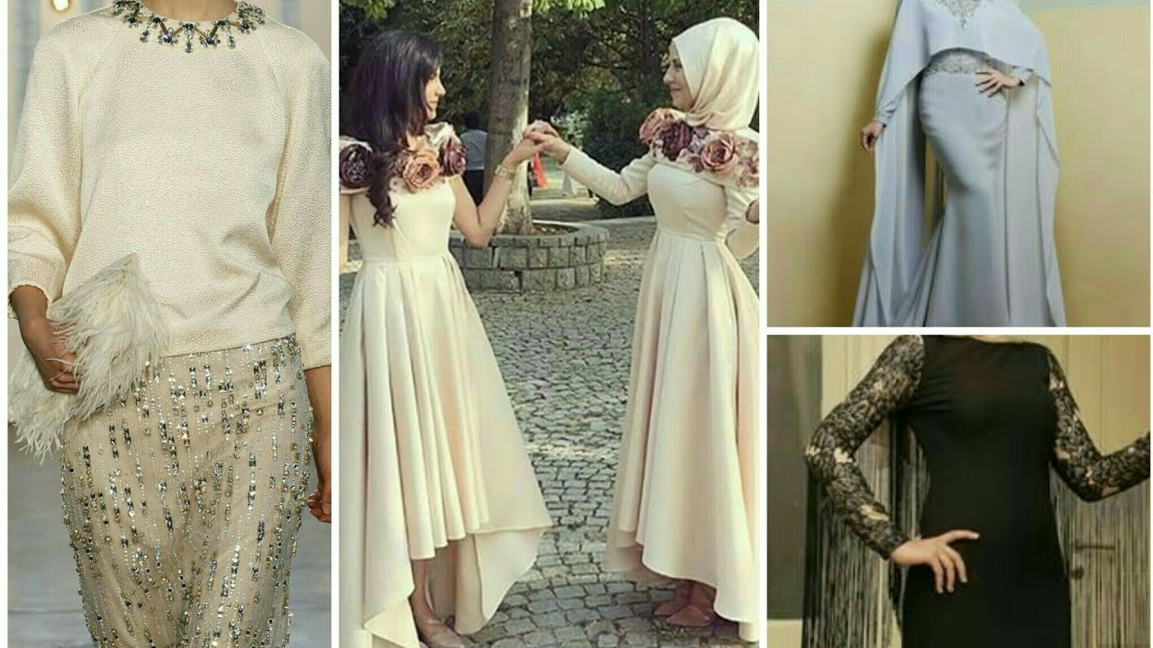 b616f44ae فساتين سهرة للمحجبات سمبل سواريه simple hijab fashion evening dresses