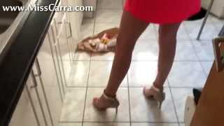 Miss Carra High Heel Crush Hamburger And French Fries (preview)