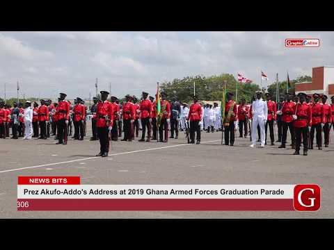 Prez Akufo-Addo's Address At 2019 Ghana Armed Forces Graduation Parade