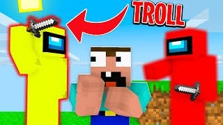 AMONG US TROLL na MINECRAFT EXTREME!