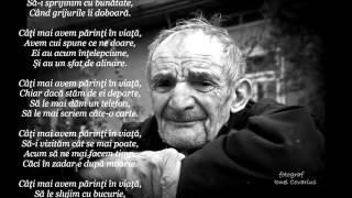 Cati mai avem parinti in viata - poezie Teodor Groza