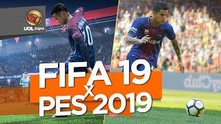 Vai de PES 2019 ou de FIFA 19? Nós te ajudamos a se decidir!