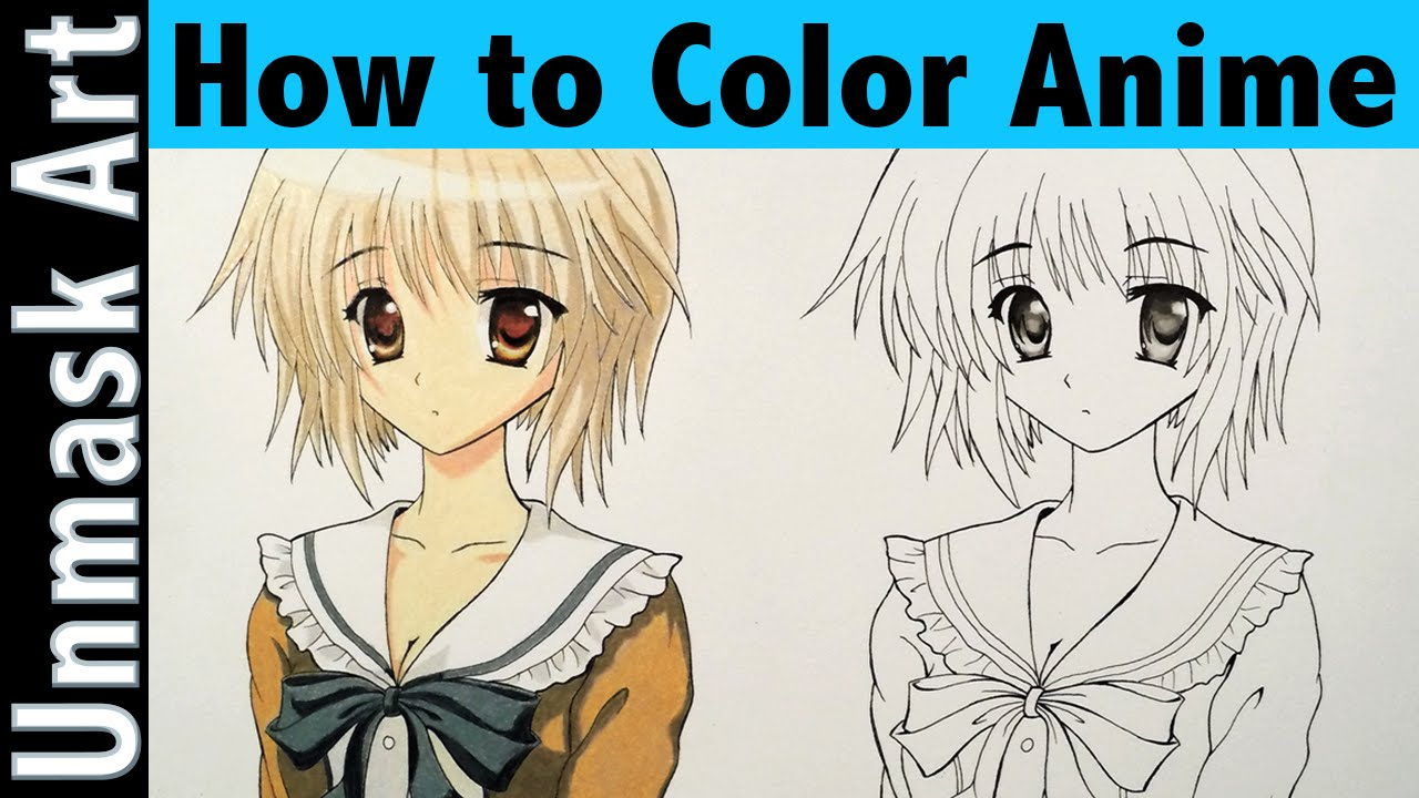 How to Color Anime With Colored Pencils | Part 1 - YouTube