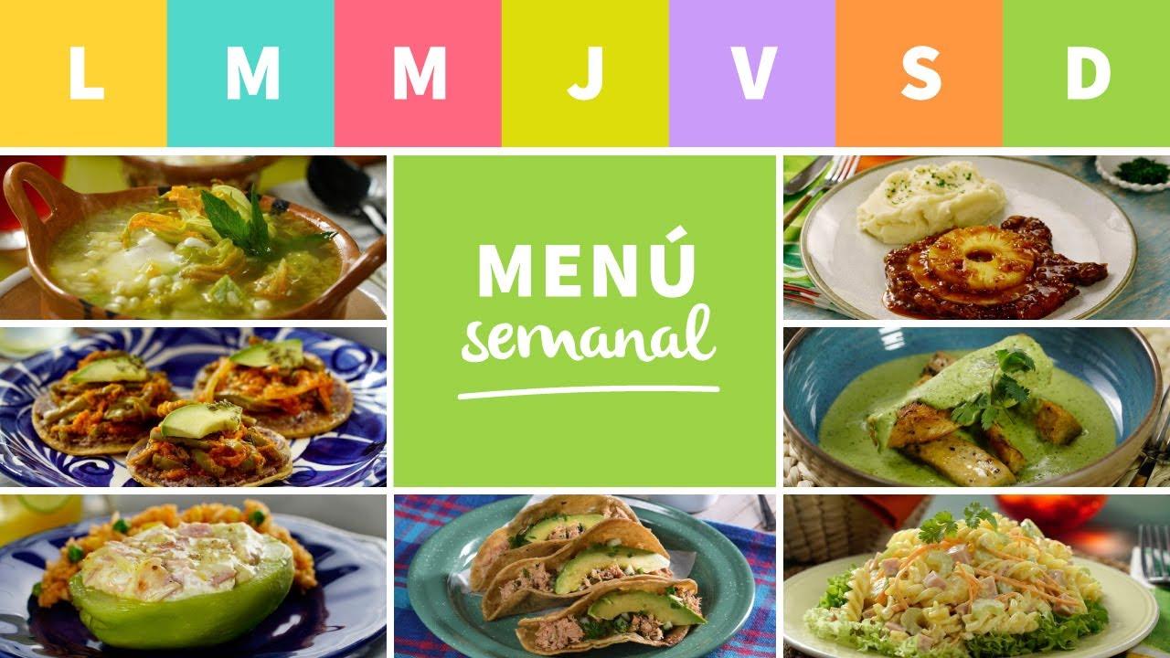 Menu Semanal Comida En 30 Minutos Youtube