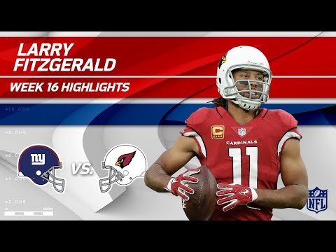 Larry Fitzgerald Highlights | Giants vs. Cardinals | NFL Wk 16 Player Highlights