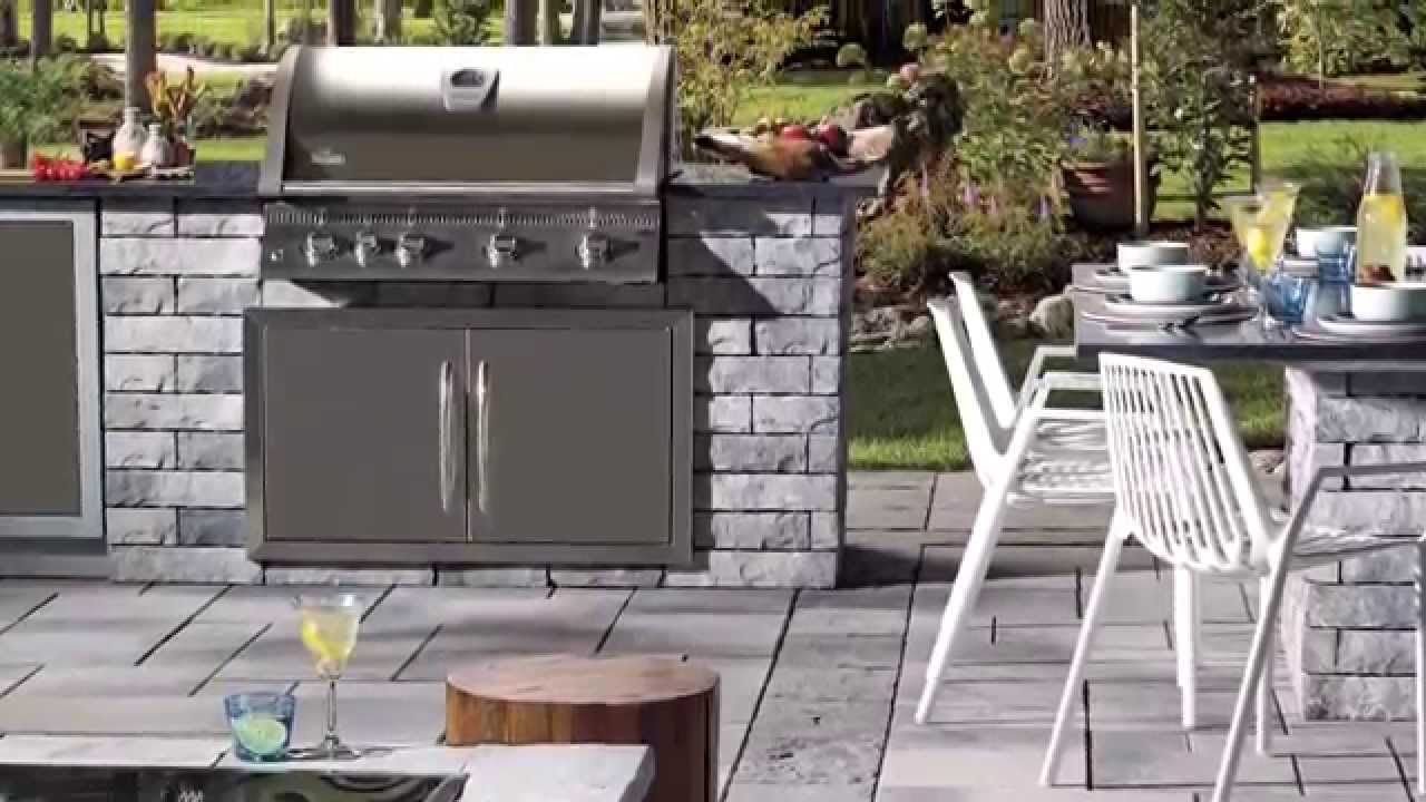 Outdoor Bbq Kitchen How To Build An Outdoor Bbq Kitchen Youtube