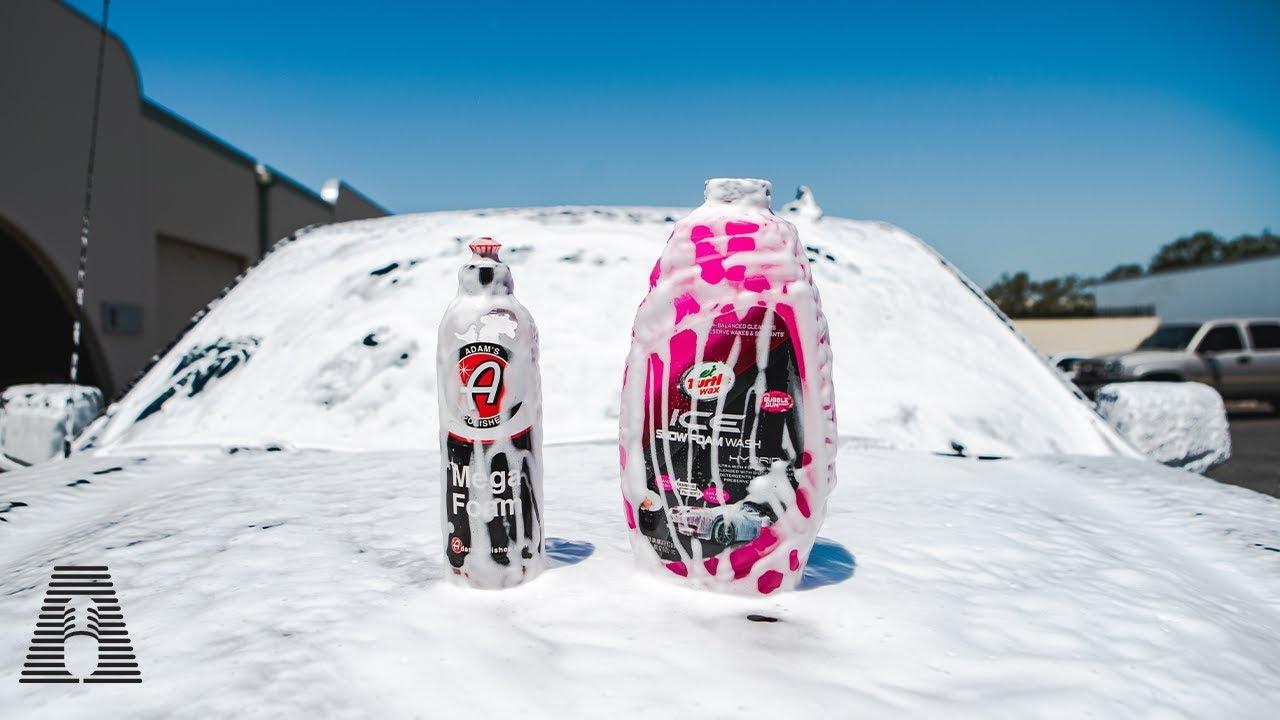 CHEAP VS EXPENSIVE: TURTLE WAX ICE SNOW FOAM VS ADAMS MEGA FOAM + FREE SOAP GIVEAWAY