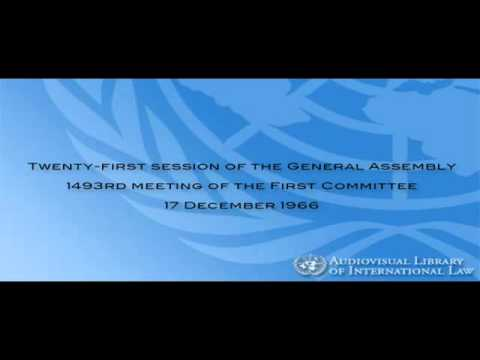 Outer Space Treaty   21st session of the General Assembly, First Committee, 1493rd plenary meeting