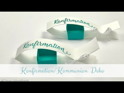 Konfirmation/Kommunion Tischdeko basteln**Fisch** from YouTube · Duration:  9 minutes 52 seconds