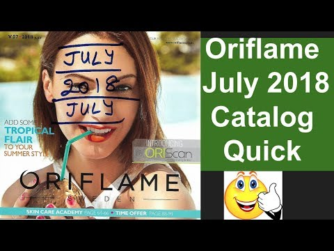 Oriflame July 2018 Catalog Quick View
