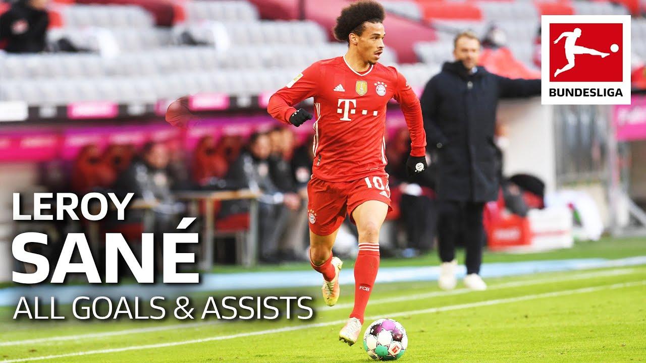 Download Leroy Sané - All Goals & Assists 2020/21 so far