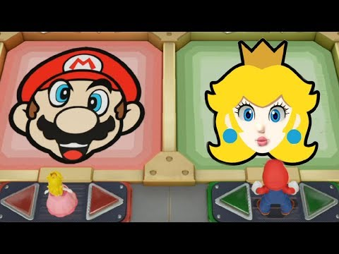 Super Mario Party - Team Peach & Mario vs Team Luigi & Daisy  Cartoons Mee