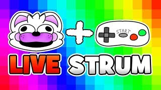 Minecraft Fnaf Livestream - Hypixels Adventure With Foxy, Freddy and bonbon