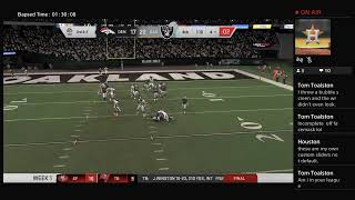 NFL ON FOX: MADDEN 20 - BRONCOS @ RAIDERS - WEEK 1 REGULAR SEASON - MY ORIGINAL SLIDER TEST