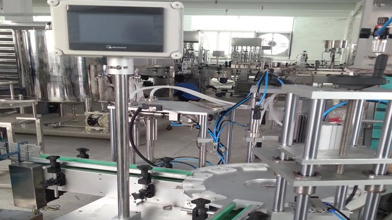 Filling Capping Labeling Automated For 5 100ml Medical
