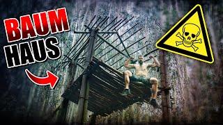 BAUMHAUS im Dschungel bauen #002 - Unge Survival Challenge - Bushcraft Camp | Fritz Meinecke
