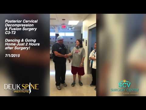 Deanna - Dancing 2 Hours After Posterior Cervical Decompression & Fusion Out Patient Surgery; C3-T2