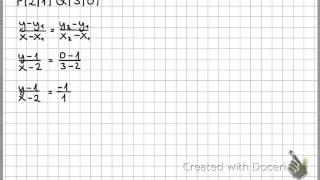 Punktsteigungsformel zum Aufstellen der Geradengleichung - Clip.FAIL