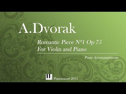 A.Dvorak - Romantic Piece Nº1 Op 75 - violin and Piano - Piano Accompaniment
