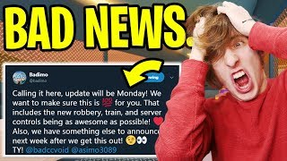 JAILBREAK TRAIN ROBBERY UPDATE... BAD NEWS! 😔😭 (Roblox Jailbreak New Update)