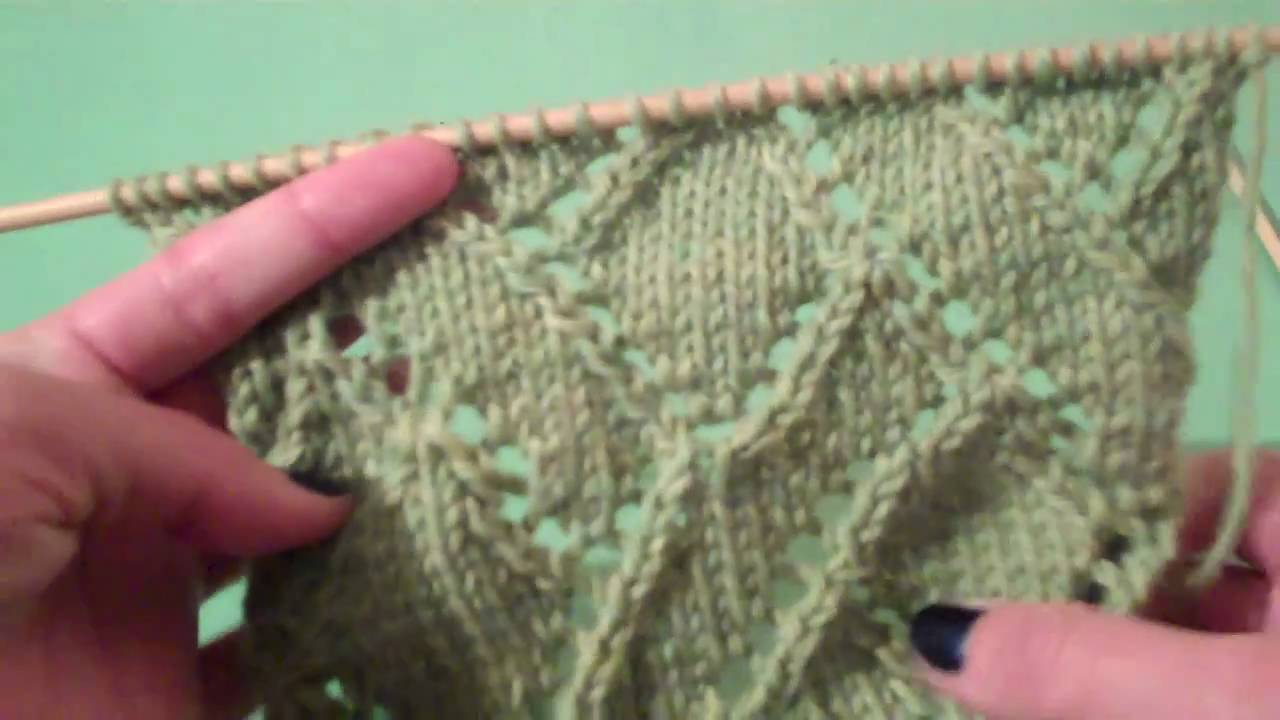 How To Knit The Diagonal Eyelet Mosaic Pattern From Vogue