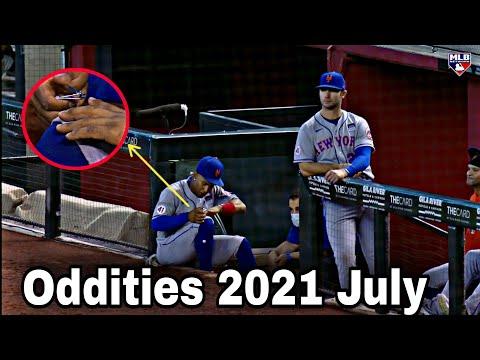MLB | ODDITIES 2021 OF JULY COMPILATION